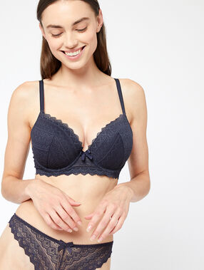 Lace magic up® bra grey.