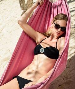 Sujetador bikini sin tirantes con broche joya;${refinementColor}