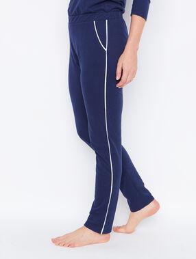Pantalon façon jogging marine.
