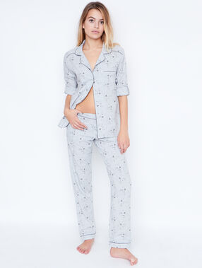 2 pieces pyjama grey.