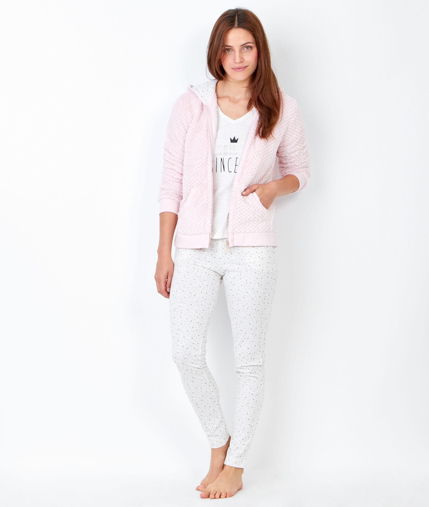 princesse pyjama 3 pi ces pantalon imprim et veste toucher polaire etam. Black Bedroom Furniture Sets. Home Design Ideas