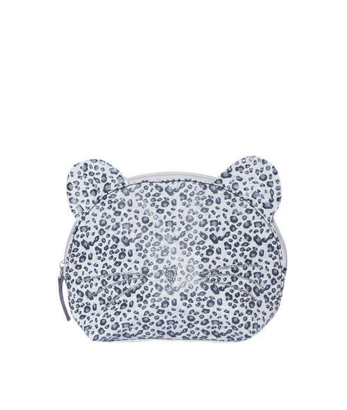 Trousse de toilette imprimée léopard