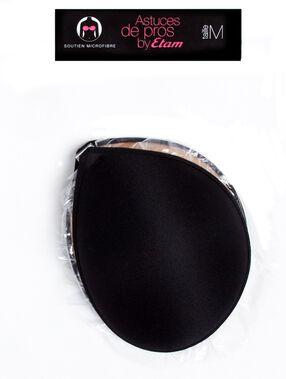 Sujetador microfibra negro.