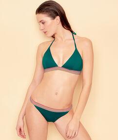 Culotte de bain avec détail élastique multicolore vert.