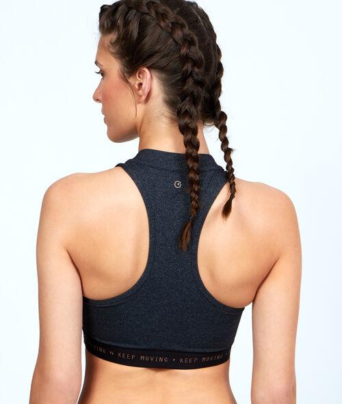 Sport bra, plunging neckline, pushup effect;${refinementColor}