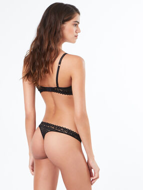 Lace tanga black.