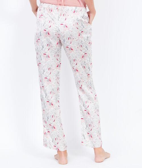 Pantalon à imprimés fleuris, détail noeud;${refinementColor}