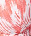 Haut de maillot de bain triangle corbeille imprimé