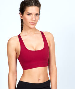 Sport bra, ultra-strech and ultra-breathable material, racer back red.
