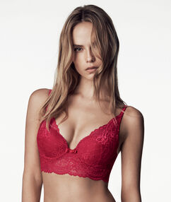 Soutien-gorge triangle push up rouge.