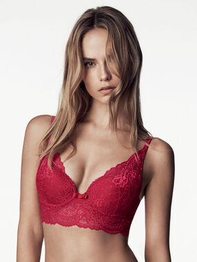 Soutien-gorge n°3 - triangle push up rouge.