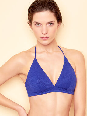 Triangle bra blue.