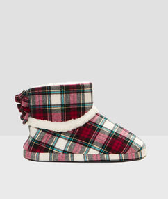 Slipper boots ecru.