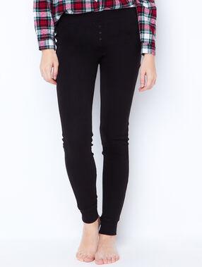 Pantalon façon jogging noir.