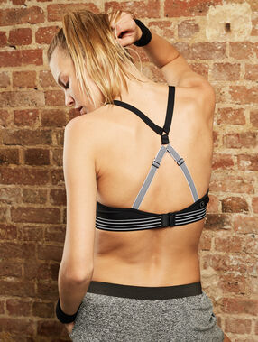 Sport bra, maximum support black.