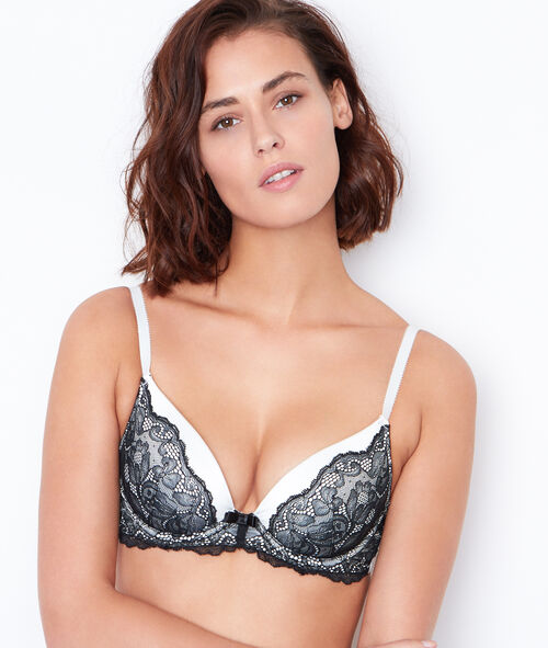 Satin and lace magic up bra;${refinementColor}