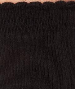 Chaussettes en modal noir.