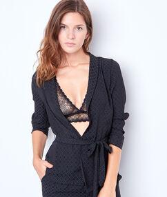 Żakardowa bluza od piżamy w deseń noir.