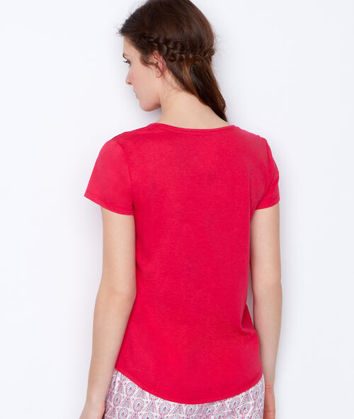 T-shirt épaules ajourées;${refinementColor}