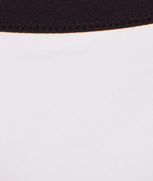 Culotte de bain avec détail élastique noir;${refinementColor}