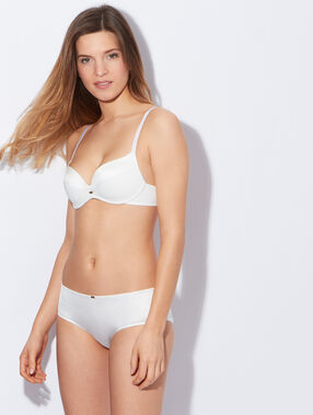Micro padded demi cup br white.