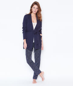 Pyjama 3 pieces imprime bleu.