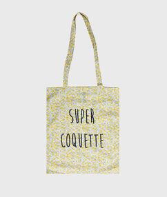 Printed tote bag yellow.