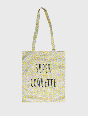 Printed tote bag yellow.