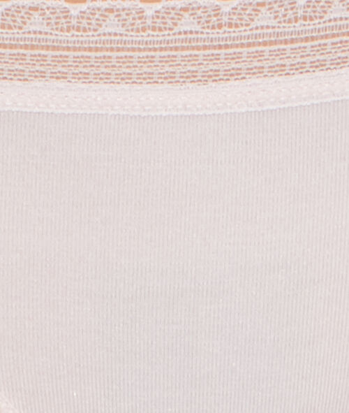 Majtki z miękkiego modalu o brzegach zdobionych koronką