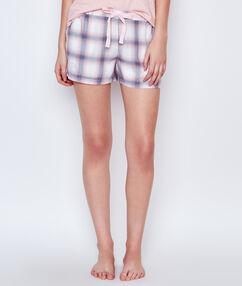 Printed pyjama short ecru.
