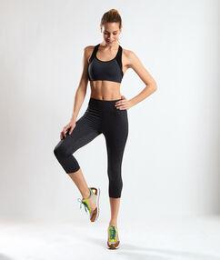 Biustonosz sportowy, na plecach wycięcie w stylu bokserskim anthracite.