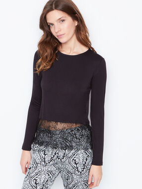 Lace top black.