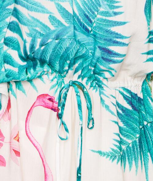 Tunique de plage imprimé tropical;${refinementColor}
