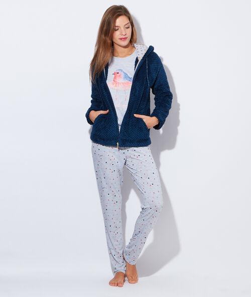 Pyjama 3 pièces imprimé oiseaux