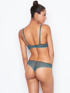Lace tanga green.