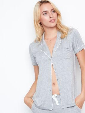 Chemisette de pyjama fluide gris.