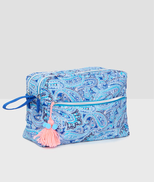 Cashmere print toiletry bag;${refinementColor}
