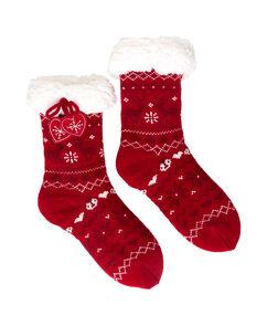 Calcetines con forro polar  rojo.