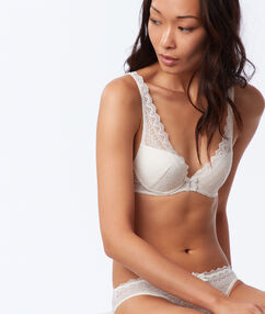 Soutien-gorge triangle push up ecru.