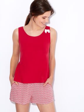 Pyjama tank top red.