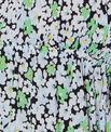 Nuisette imprimé fleuri, détail dentelle col