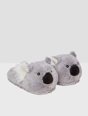 Kapcie 3d koala gris.