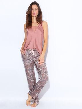 Pantalon imprimé multicolore.
