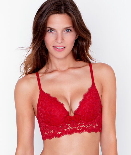 Lace push up bra;${refinementColor}