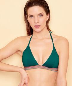 Triangle bra green.