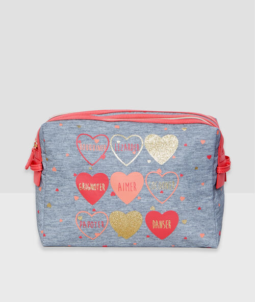 Heart and message toiletry bag