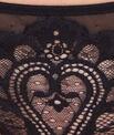 Tanga dentelle baroque, dos plumetis