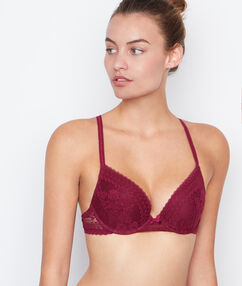 Push-up-bra burgundy.