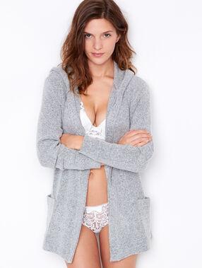 Pyjama jacken grau.