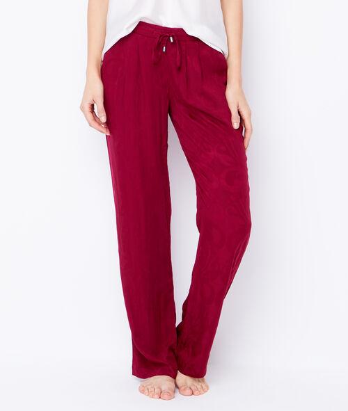 Pantalon large en viscose aspect jacquard